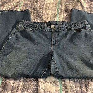 """Christopher & Banks boot cut Jeans 14 30"""" inseam"""